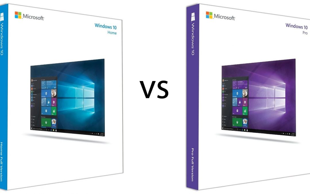 Windows 10 Home or Windows 10 Professional? - Bells IT Support